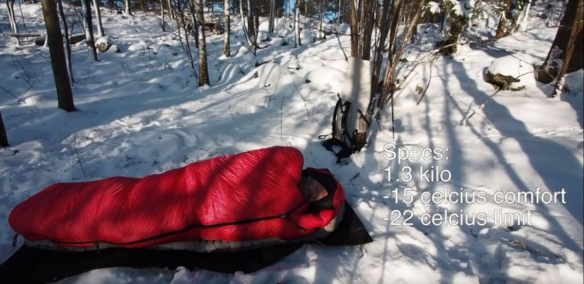 Cumulus Teneqa 850 winter down bag review – demonstration